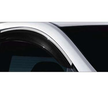 Picture of GFX Car Window Door Wind Visor with Silver Chrome Line for Hyundai Xcent 2017