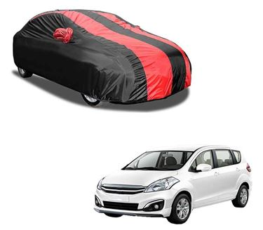 Picture of Aril Stylish Red Stripe Car Body Cover For Maruti Ertiga 2009-2014 with mirror pocket