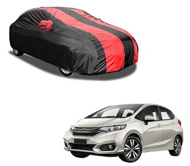 Picture of Aril Stylish Red Stripe Car Body Cover For Honda Jazz with mirror pocket