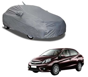 Picture of Aril Matty Grey Car Body Cover For Honda Amaze 2011-2017 with mirror pocket & Antenna Pocket