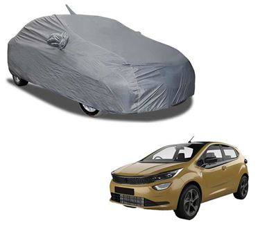 Picture of Aril Matty Grey Car Body Cover For Tata Altroz 2020 with mirror pocket & Antenna Pocket