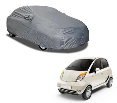 Picture of Aril Matty Grey Car Body Cover For Tata Nano with mirror pocket