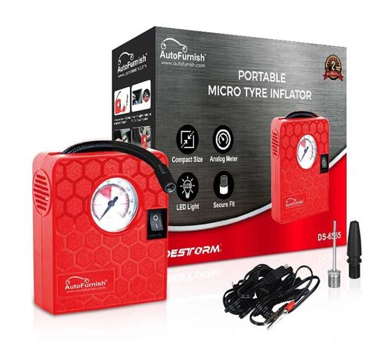 Picture of Portable Micro Tyre Inflator (DS-6565) for Motorcycle, Scooter, Bicycle, ATV, Small Cars or Balls