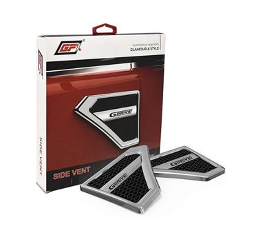 Picture of GFX G Drive Side Vent Air Flow Duct Racing Side Vent Air Flow Chrome Plated Sticker (GFXU-026)