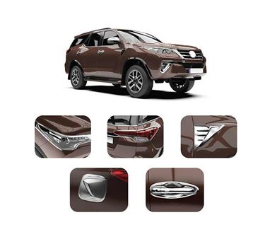 Picture of GFX GXCK-006 Toyota Fortuner 2016 Onwards Chrome Combo Kit