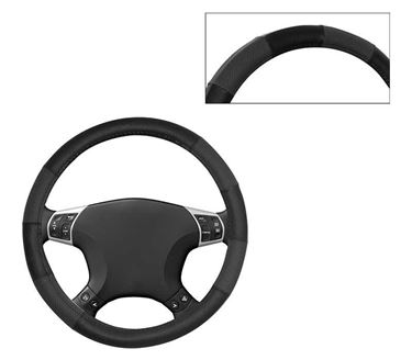 Picture of Leatherite Car Steering Cover For All Cars - Dove Black