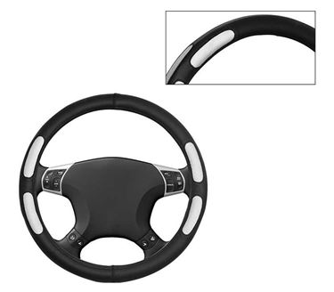 Picture of Leatherite Car Steering Cover For All Cars - Flake Black