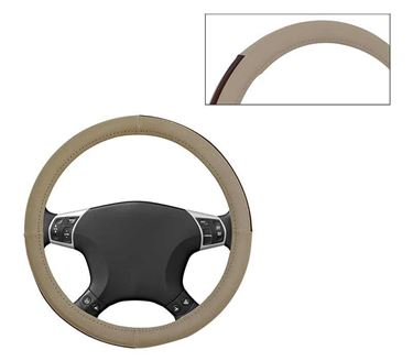 Picture of Leatherite Car Steering Cover For All Cars - Sorrel Beige