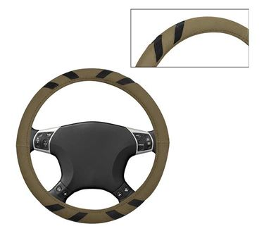 Picture of Leatherite Car Steering Cover For All Cars - Ebony Beige