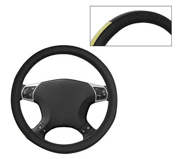 Picture of Leatherite Car Steering Cover For All Cars - Yellow Black